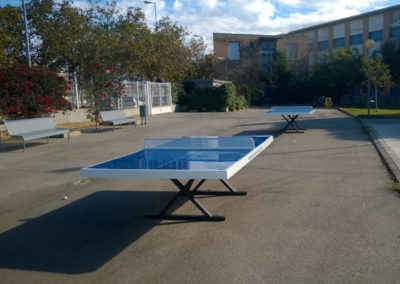 Mesas de ping pong de exterior en colegio