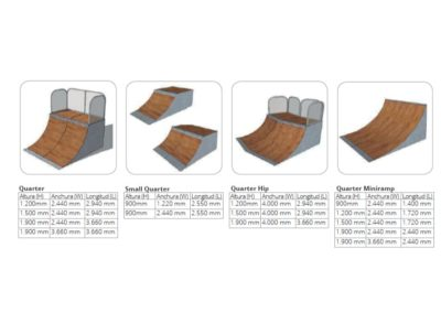Modulos de skate: Quarter