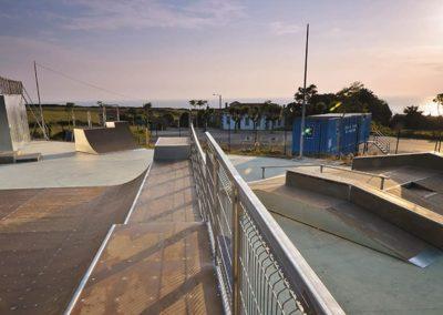 Construcción de pista de skate
