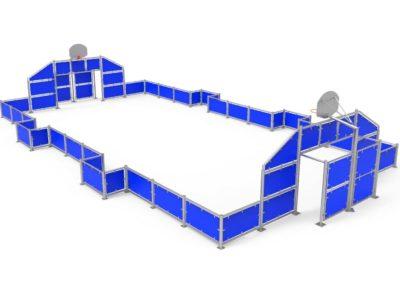 Pista Multideportiva Antivandálica Azul