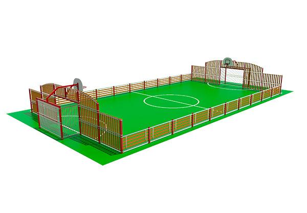 pista polideportiva para colegios y espacios públicos