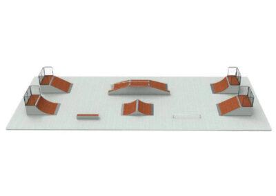 Venta de pistas de skate prefabricadas: skatepark modular pack n10