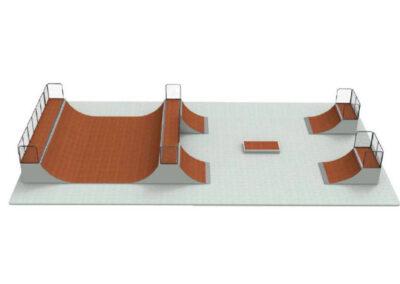 venta de rampas de skate: skatepark modular pack n18