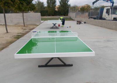 Instalación de mesas de ping pong Forte