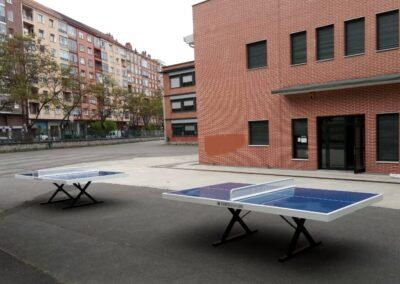 Mesas de ping pong Forte en una comunidad de propietarios