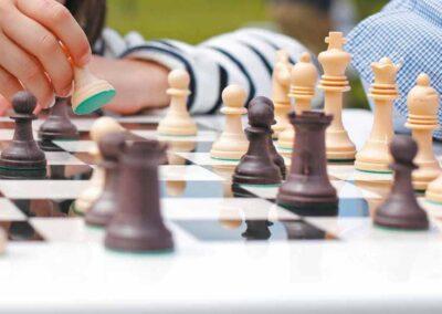 detalle juego de ajedrez exterior