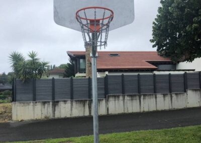 Canasta basket en parque público ayuntamiento