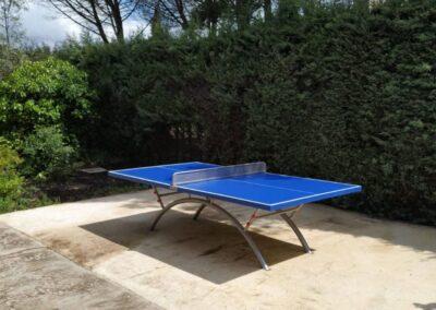 Mesa ping pong Economic Plus en jardín particular