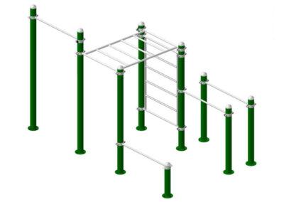 Estructura calisthenics park DUCG-2001