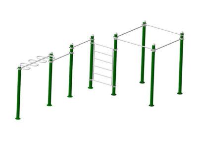 Pack Barras Calistenia Workout 2005: estructura