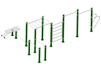 Circuito Calistenia Workout 2010: estructura